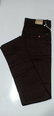 Coffee Color Heavy Dobby Men's Plain Trouser - TM2