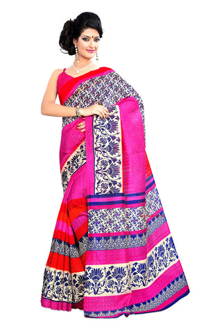 Multi Color Kalamkari Mysure Silk Saree - TMSS-3
