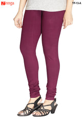 Purple Color  Cotton Legging