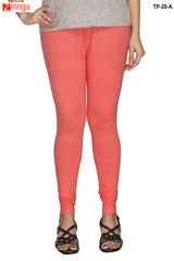 Peach Color  Cotton Legging