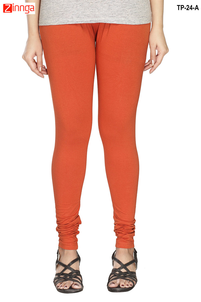 Orange Color  Cotton Legging