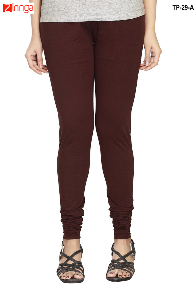 Brown Color  Cotton Legging
