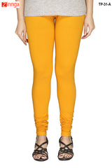 Yellow Color  Cotton Legging