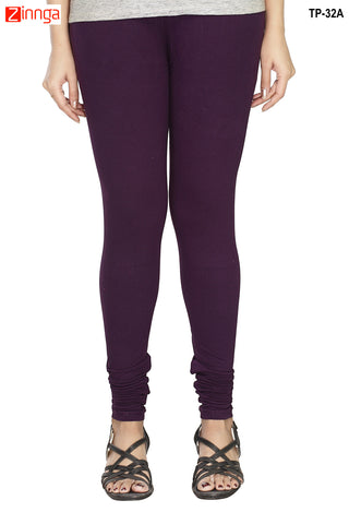 MINU FASHION- Women's Stylish Violet Color  Cotton Legging-TP-32-A