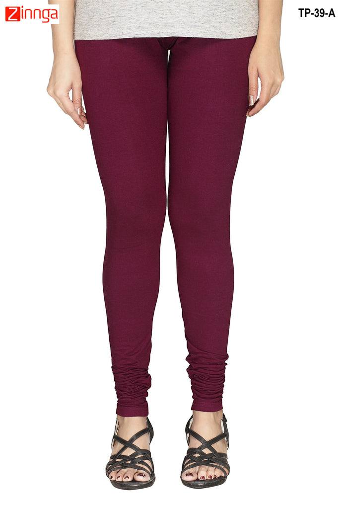 Maroon Color  Cotton Legging