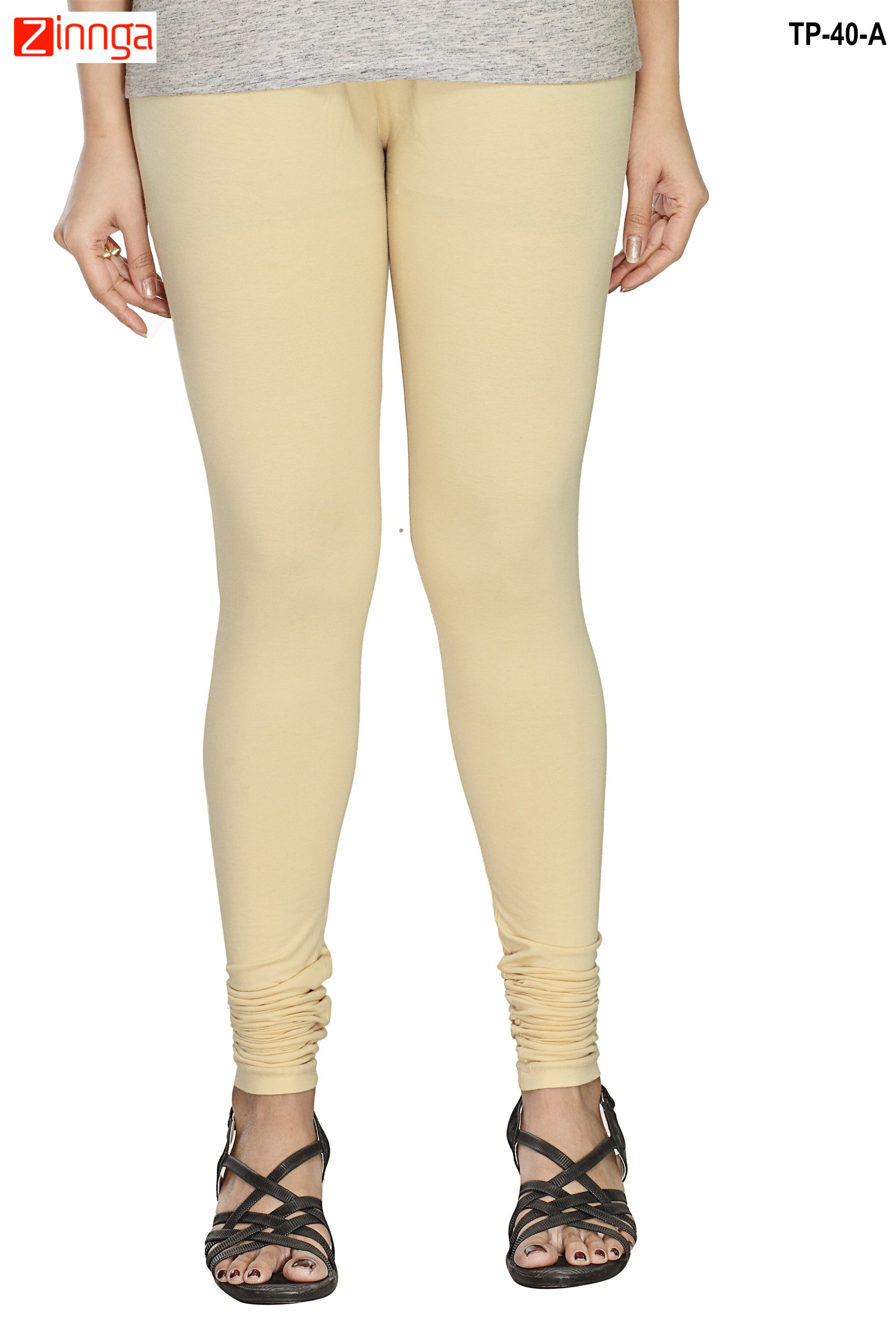 92ecb85f89ecf Off White Color Cotton Legging | Zinnga