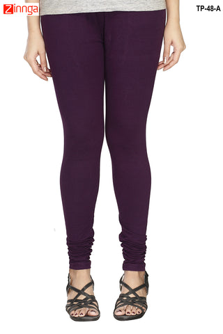MINU FASHION- Women's Stylish Violet Color  Cotton Legging-TP-48-A