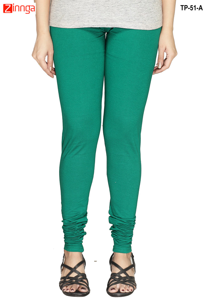Green Color  Cotton Legging