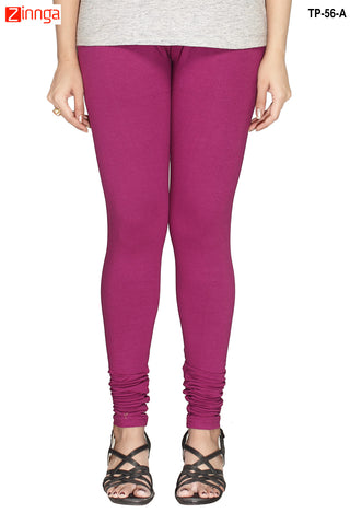 MINU FASHION- Women's Stylish Purple Color  Cotton Legging-TP-56-A