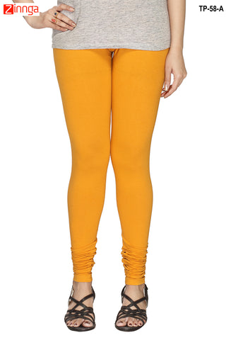 MINU FASHION- Women's Stylish Yellow Color  Cotton Legging-TP-58-A