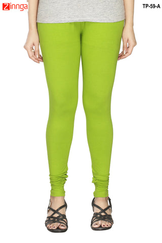 MINU FASHION- Women's Stylish Green Color  Cotton Legging-TP-59-A