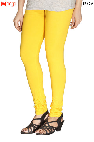 MINU FASHION- Women's Stylish Yellow Color  Cotton Legging-TP-60-A
