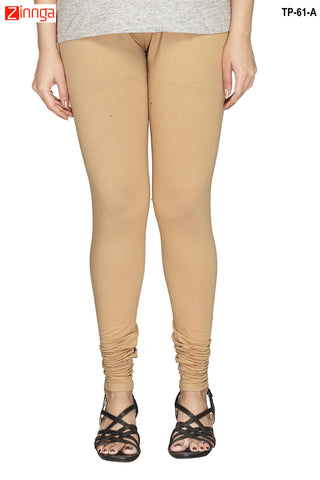 MINU FASHION- Women's Stylish Beige Color  Cotton Legging-TP-61-A