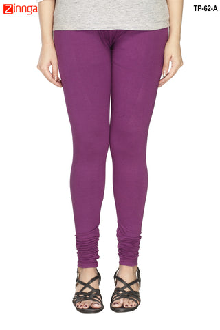 MINU FASHION- Women's Stylish Purple Color  Cotton Legging-TP-62-A