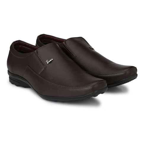 Brown Color Synthtic Leather Men Shoe - TPNBROWN301-6