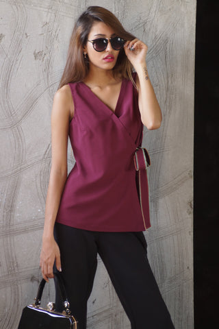Maroon Color Lycra Stitched Top - TPohbu87
