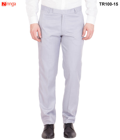 AMERICAN-ELM- Men's Basic Cotton Formal Trouser- Grey- TR100-15