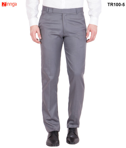 AMERICAN-ELM- Men's Cotton Formal Trouser- Dark Grey- TR100-5