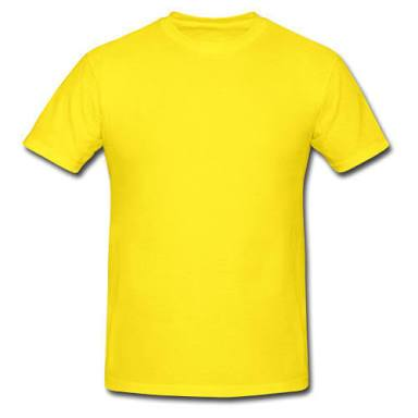 Yellow Color Pure Cotton Men's T-Shirt - TRSC-12