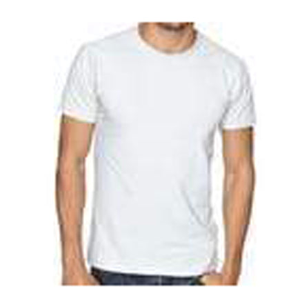 White Color Pure Cotton Men's T-Shirt - TRSC-1