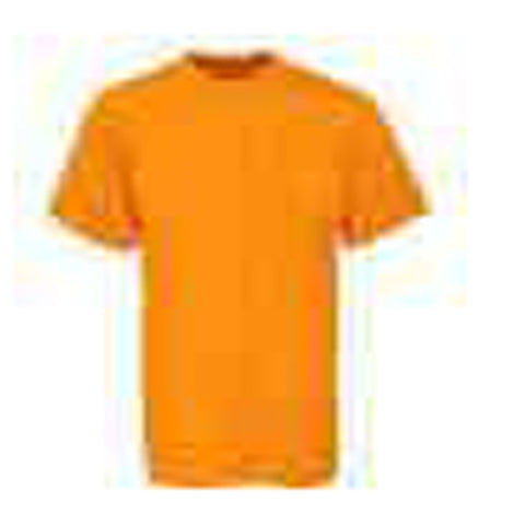 Dark Orange Color Pure Cotton Men's T-Shirt - TRSC-5