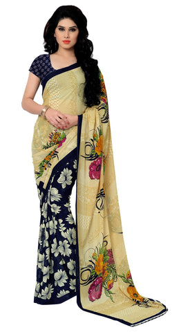 Multi Color Faux Georgette Saree - TSAND2942A