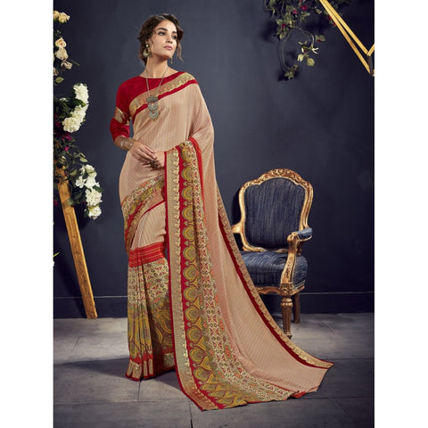Multi Colour Color Crape Saree - TSNAE63005