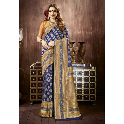 Blue Color Crape Saree - TSNJSN30105