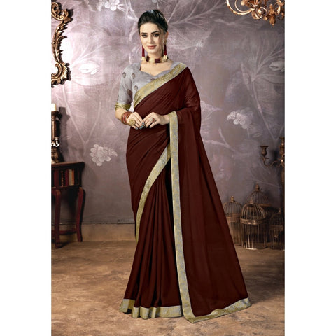 Brown Color Georgette Saree - TSNPRT50202