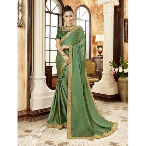 Green Color Georgette Saree - TSNZH16901