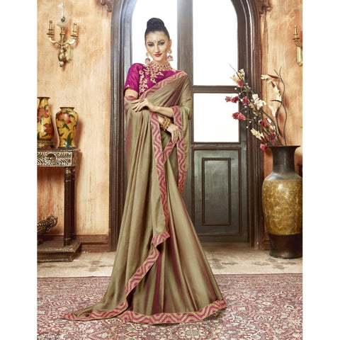 Gray Color Chiffon Saree - TSNZH16909