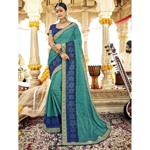 Sea Green Color Georgette Saree - TSNZNS28001