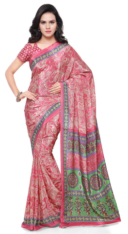 Pink Color Jute Silk Saree - TSSU13304
