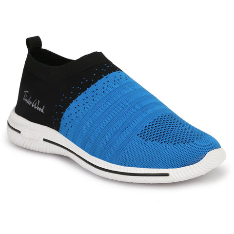 Blue and Black Color Fly Knit Men Shoe - TWRIB-BLU-BK
