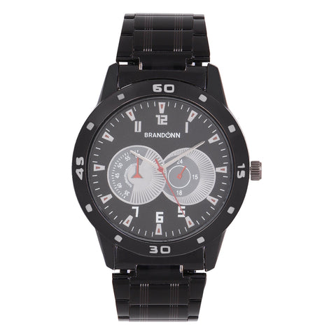 Black Color Metal Analog Watch - TYM-CHAIN-BLCK-006
