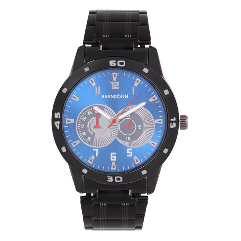 Black Color Metal Analog Watch - TYM-CHAIN-BLCK-RYL-007