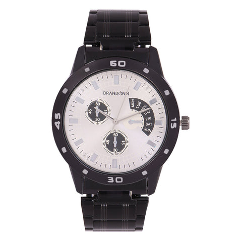 Black Color Metal Analog Watch - TYM-CHAIN-BLCK-WYT-002