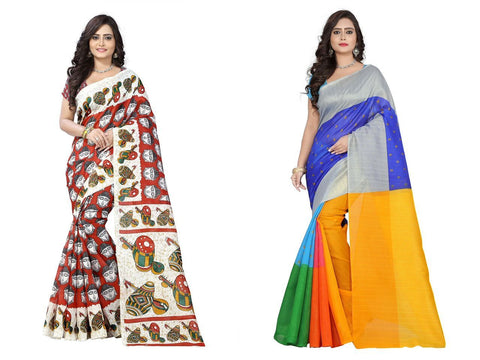 Bhagalpuri Combo Sarees - Tabla-Colorfull