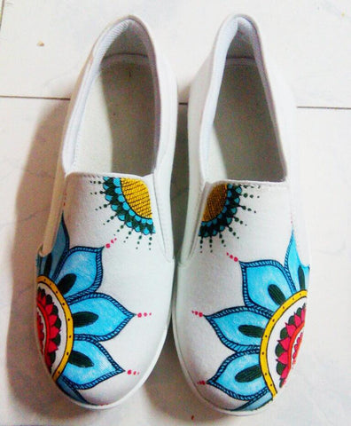 Multi Color  Canvas Unisex Shoe - Traditional-Design-19