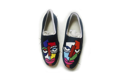 Multi Color  Canvas Unisex Shoe - Two-Face-18