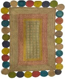 Multi Color Jute Floor Rug - UE-SJ-03