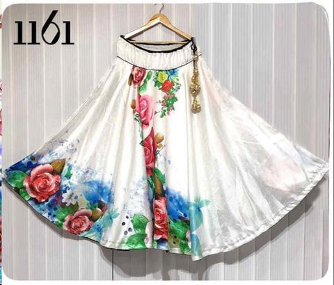 Multi Color Banglori Satin Silk Stitched Skirt - UFZ-1161