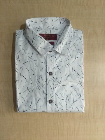 White Color Cotton Mens Shirt - Unique9-White