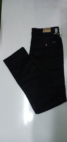 Black Color Sanke Dobby Men's Plain Trouser - V1