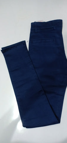 Navy blue Color Sanke Dobby Men's Plain Trouser - V2