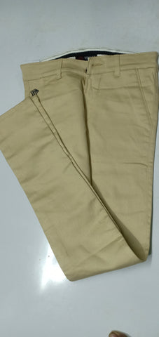 Cream Color Sanke Dobby Men's Plain Trouser - V3