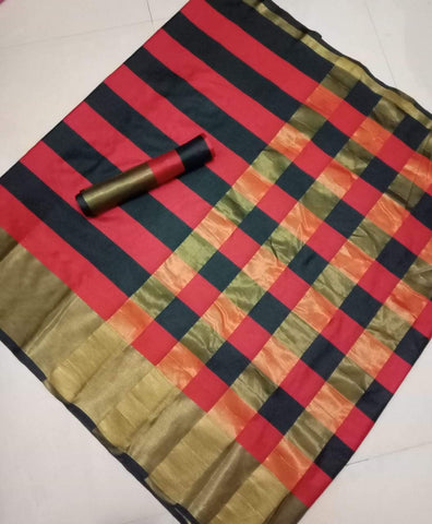 Multi Color Soft Cotton Saree - VAISHNVISAREE-02