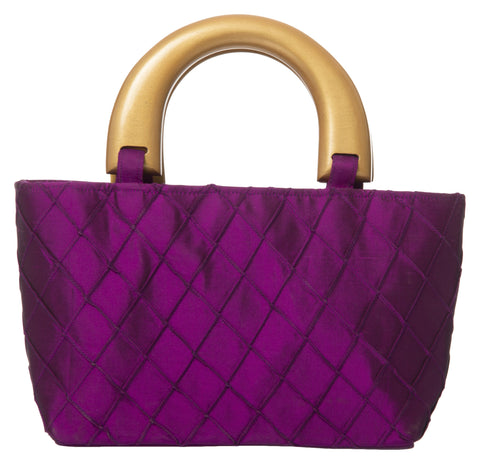 Pink Color Pure Silk Women's HandBag - VARASIDDHI-HB1