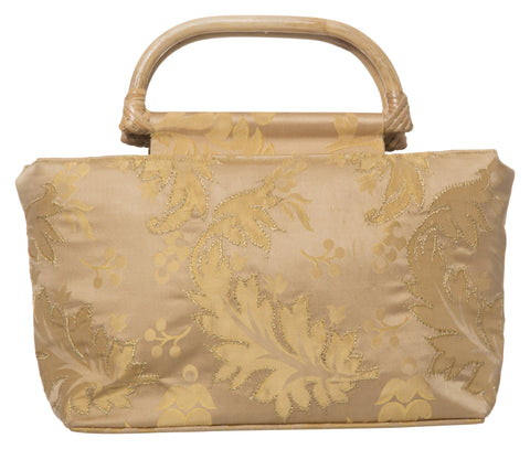 Beige Color Pure Silk Women's HandBag - VARASIDDHI-HB5