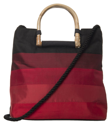 Red Color Pure Silk Women's HandBag - VARASIDDHI-HB6